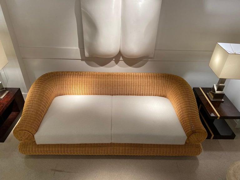1970s Rattan Vintage Sofa 6
