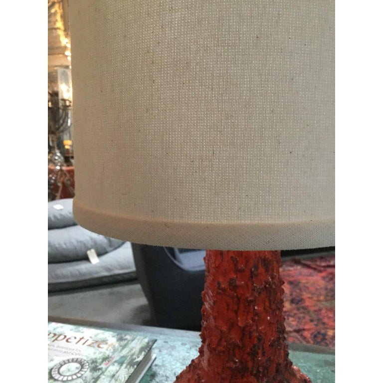 1970s Red Danish Table Lamp For Sale 2