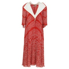 1970S Renato Balestra Red and White Dress