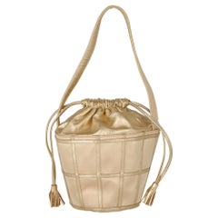 1970s Rene Caovilla Gold Bucket Bag
