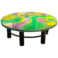 1970s Resin Coffee Table by Pierre Giraudon