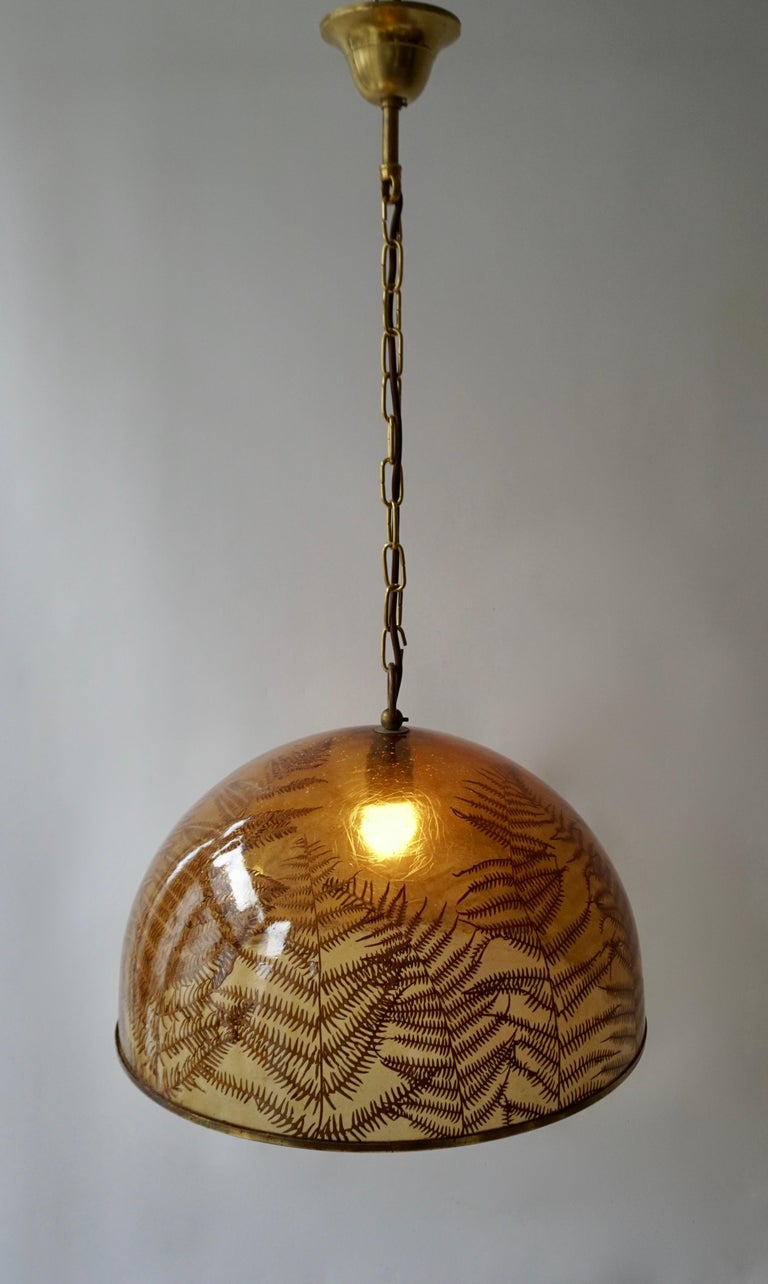 1970s Resin Pendant Lamp For Sale 3