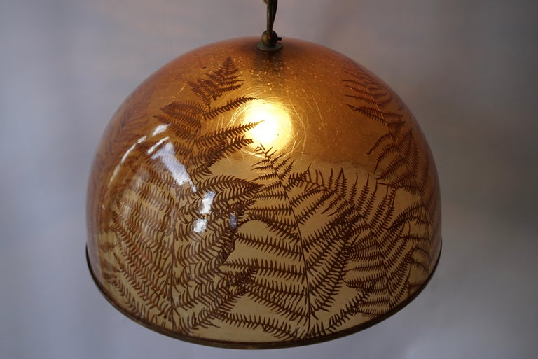 1970s Resin Pendant Lamp For Sale 4