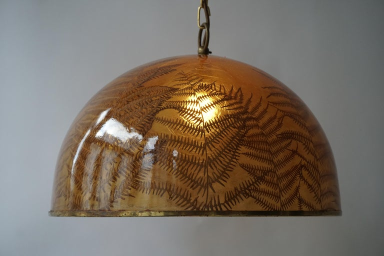 1970s Resin Pendant Lamp For Sale 5