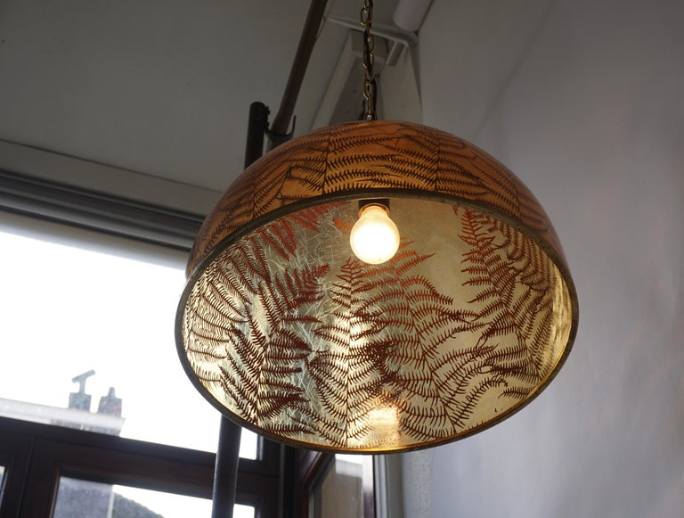 1970s Resin Pendant Lamp For Sale 8