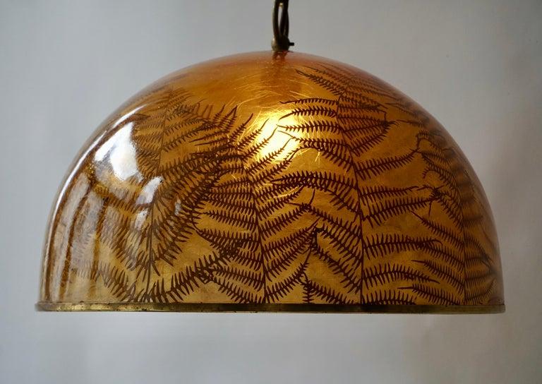 Mid-Century Modern 1970s Resin Pendant Lamp For Sale
