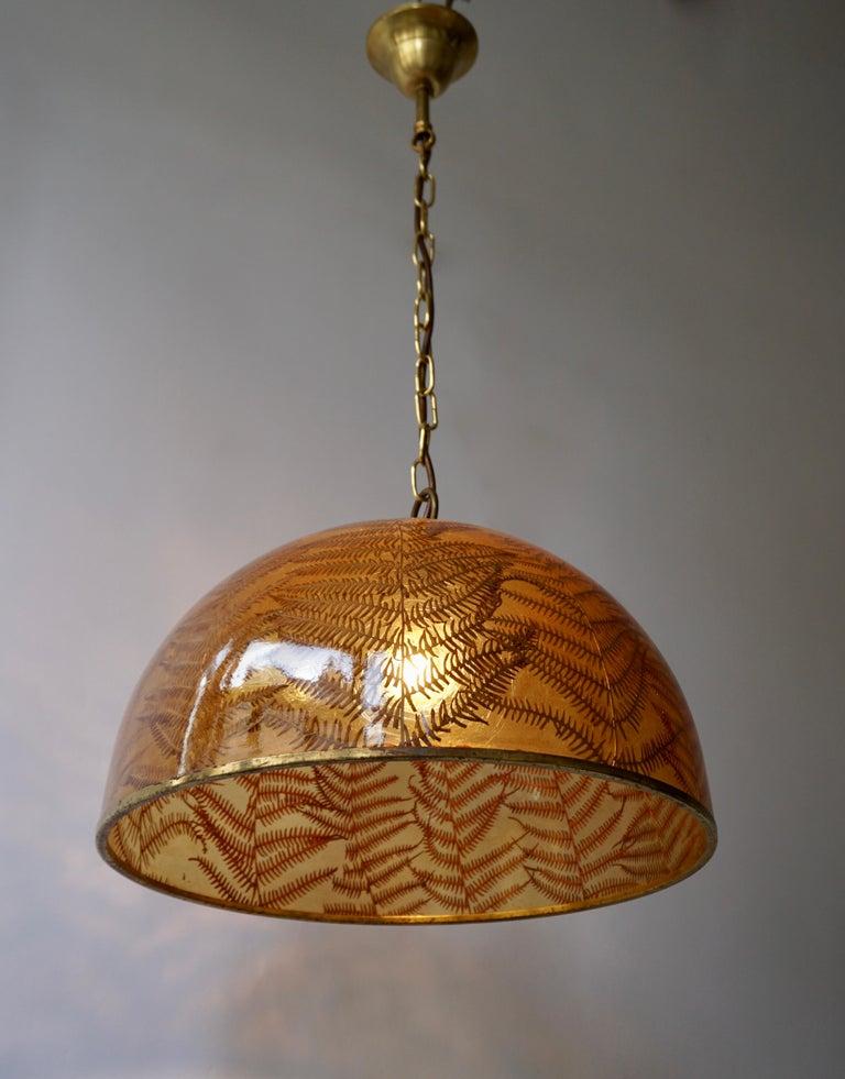 Italian 1970s Resin Pendant Lamp For Sale