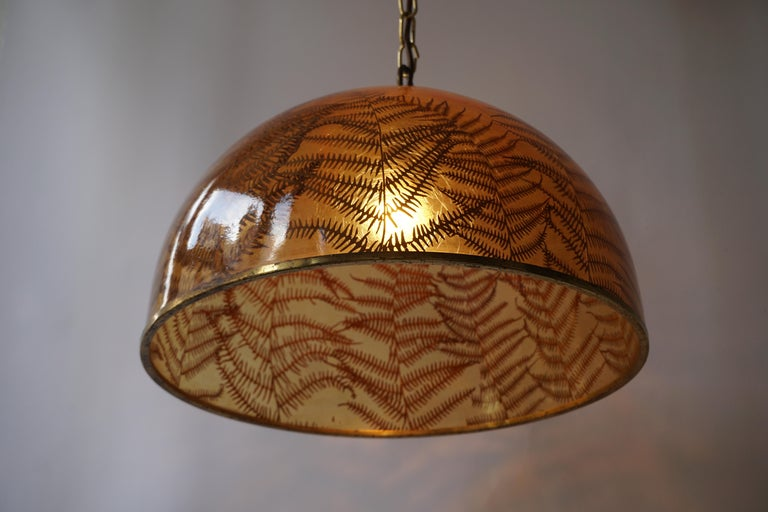 1970s Resin Pendant Lamp In Good Condition For Sale In Antwerp, BE