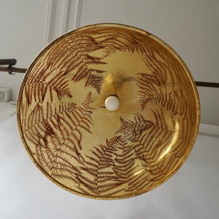 Brass 1970s Resin Pendant Lamp For Sale