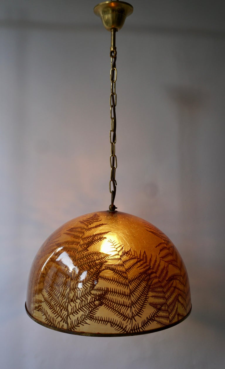 1970s Resin Pendant Lamp For Sale 2