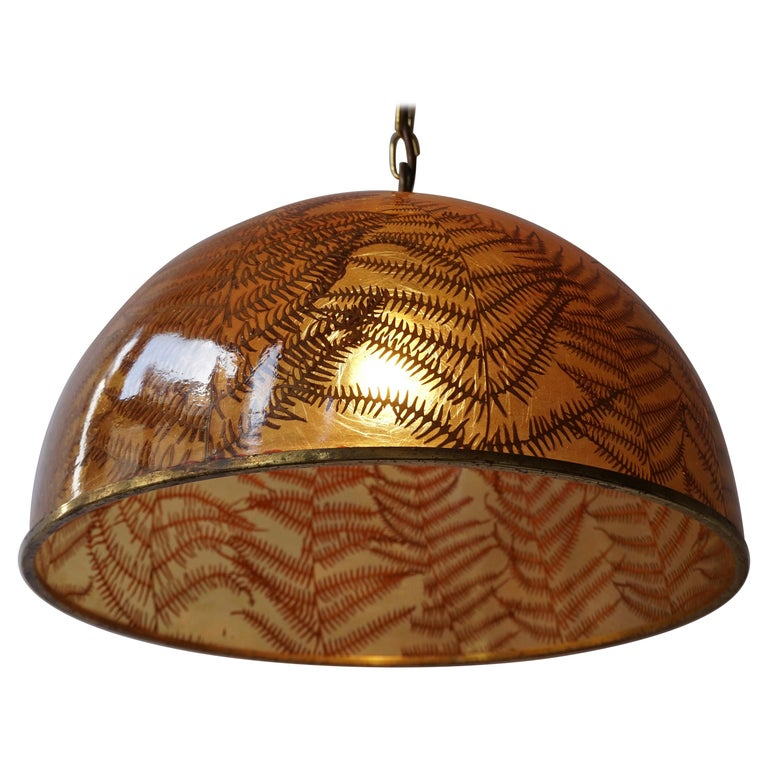 1970s Resin Pendant Lamp For Sale