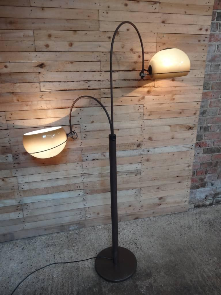 1970s retro vintage freestanding dijkstra mushroom shaped two lights 1970s retro vintage freestanding dijkstra mushroom two lights shaped floor lamp lights can be up on aloadofball Choice Image