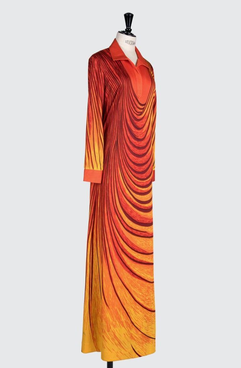This fabulous notice-me Roberta di Camerino maxi dress termed