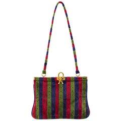 1970s Roberta Di Camerino Velvet Stripe Bag