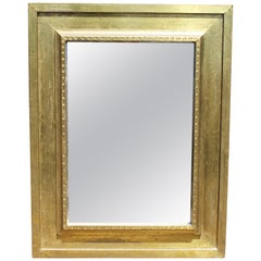 1970s Rodolfo Dubarry Handcrafted Gilded Brass over Wooden Frame Mirror