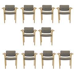 1970s Rud Thygesen and Johnny Sorensen Set of Ten Conference Armchairs