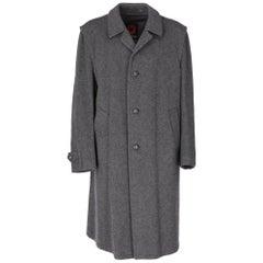 1970s Salko Loden Grey Wool Coat