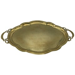 1970s Scalloped Brass Tray
