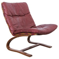 1970s Scandinavian Modern Leather Chair