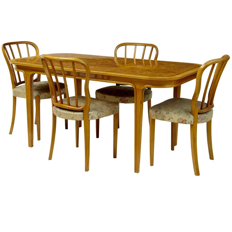 Coffee Table And Chairs For Sale: 1970s Scandinavian Teak And Walnut Coffee Dining Table For