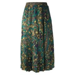 1970s Scherrer Fantasy Silk Skirt