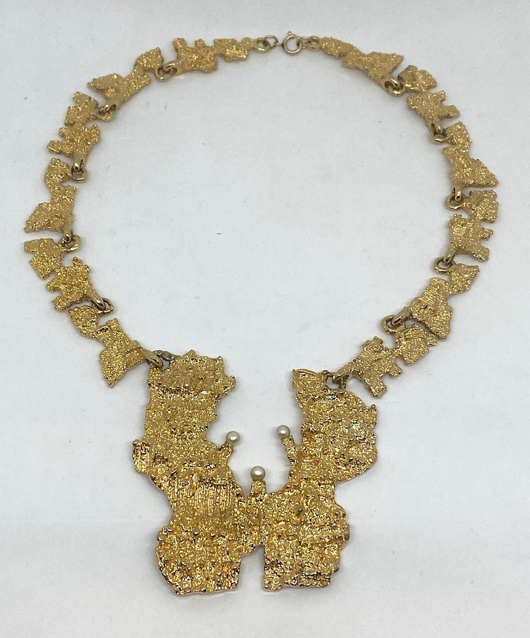 1970s Sculptural Brutalist Necklace  5