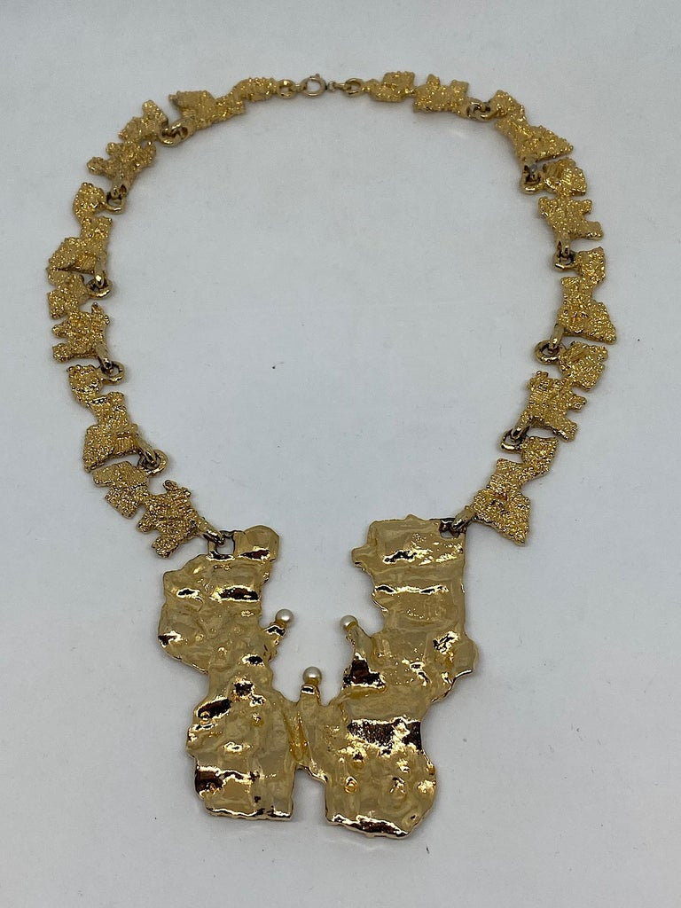 1970s Sculptural Brutalist Necklace  10