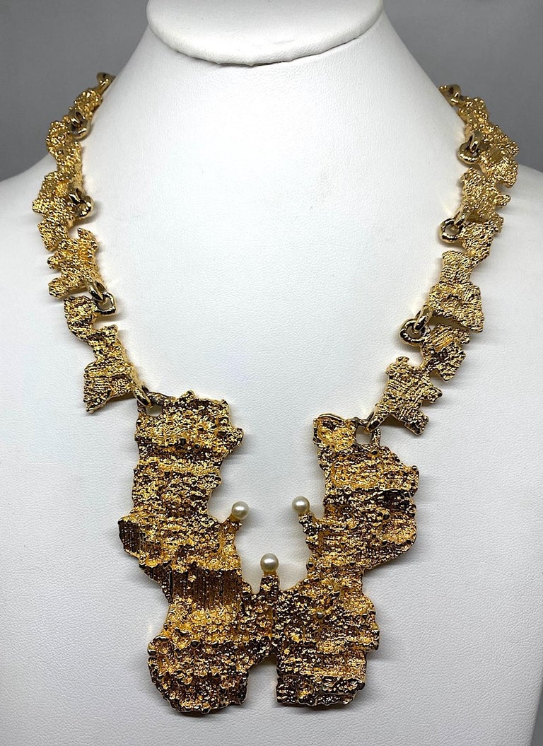 Women's 1970s Sculptural Brutalist Necklace