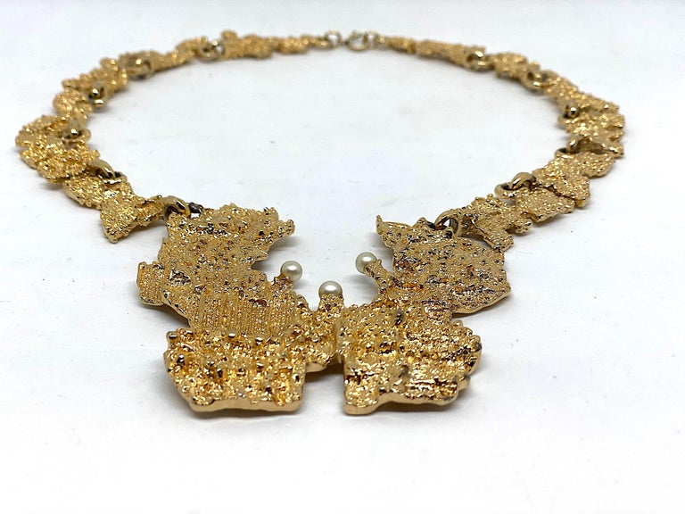 1970s Sculptural Brutalist Necklace  1