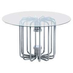 1970s Sculptural Chrome Dining Or Center Table