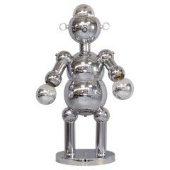 1970s Sculptural Chrome Robot Table Lamp for Torino