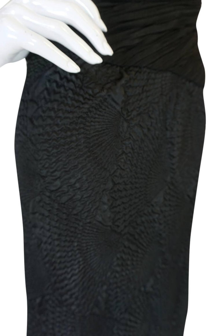 1970s See-Through Lace Detail James Galanos Couture Dress For Sale 3