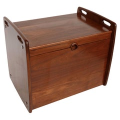 1970s Sergio Rodrigues Brazilian Jacaranda Wood Bar Cart Cabinet