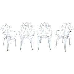 1970s Set of Four Spanish Iron Garden Armchairs