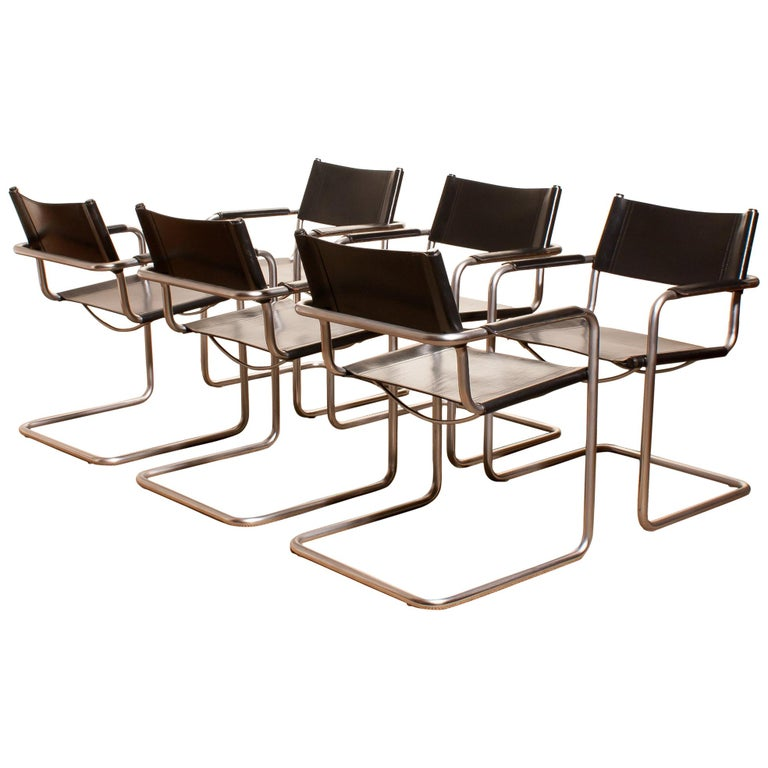 A beautiful set of six dining chairs made by Matteo Grassi, Italy.