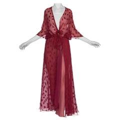 1970's Silk Chiffon Sheer Overdress