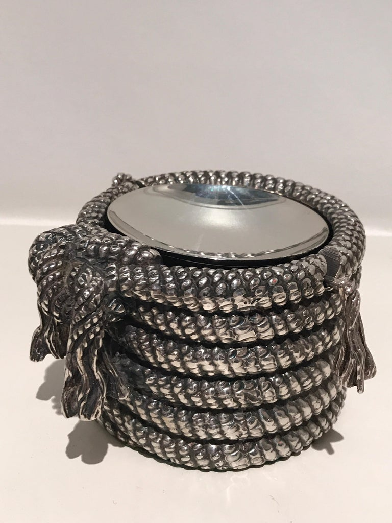 Mid-Century Modern 1970s Silver Cord Ashtray For Sale