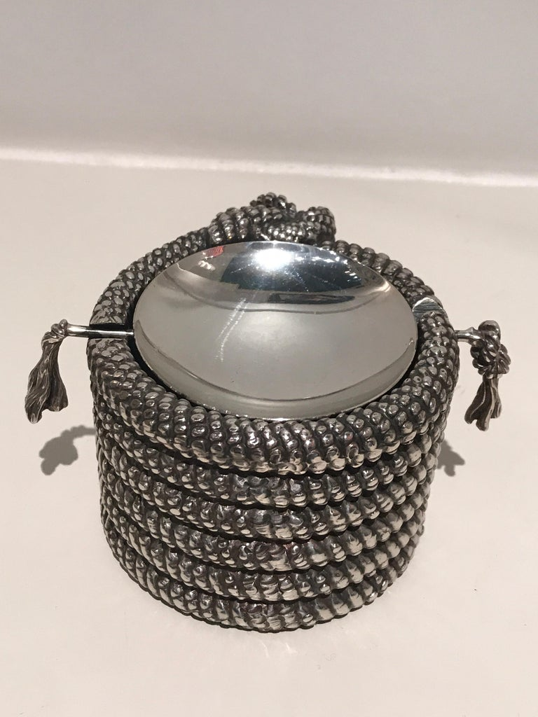 1970s Silver Cord Ashtray In Excellent Condition For Sale In Saint-Ouen, FR