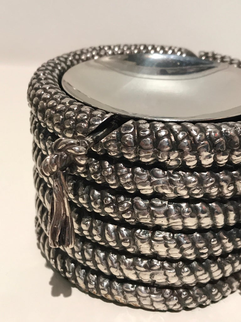 Late 20th Century 1970s Silver Cord Ashtray For Sale