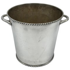 1970s Silver Plate Champagne Bucket with Rope Motif