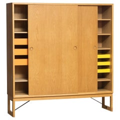 1970s, Slim Oak Cabinet / Buffet by Børge Mogensen for Karl Andersson, Sweden