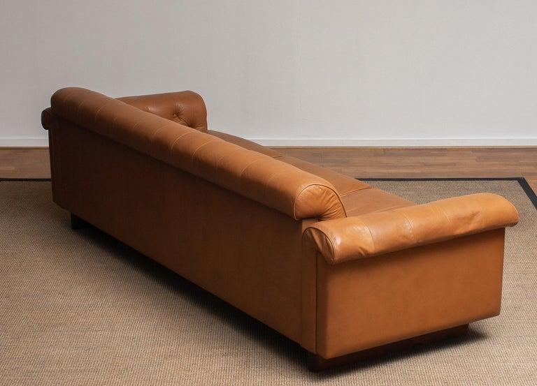 1970's Sofa by Karl Erik Ekselius for JOC Design in Camel Color Tufted Leather 7