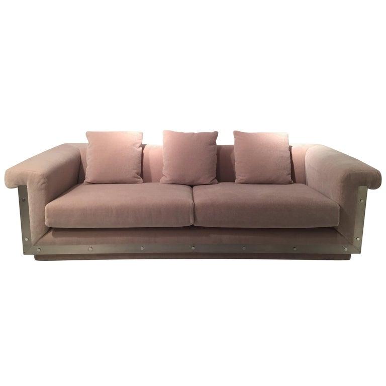 1970s Sofa by Maison Jansen For Sale