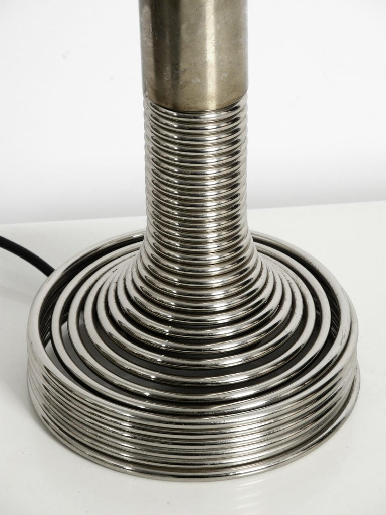 1970s Space Age Metal Chrome Table Lamp by Angelo Mangiarotti for Candle In Good Condition For Sale In München, DE