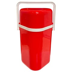 1970s Space Age Portable Plastic Wine Caddy Triple-Bottle Capacity
