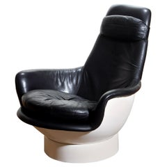 "1970s Space Age White Fiberglass Lounge / Easy Chair ""Tina"" by Peem Oy, Finland"