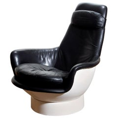 """1970s Space Age White Fiberglass Lounge or Easy Chair """"Tina"""" by Peem Oy, Finland"""