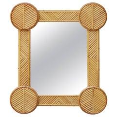 1970s Spanish Bamboo Mirror