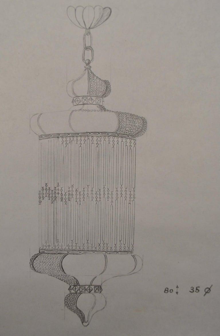 1970s Spanish Designed Swarovski Crystal Lantern / Chandelier For Sale 3