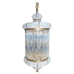 1970s Spanish Designed Swarovski Crystal Lantern / Chandelier